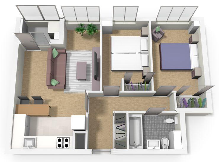 Tipo A 2 dormitorios Cadenas del Naranco V