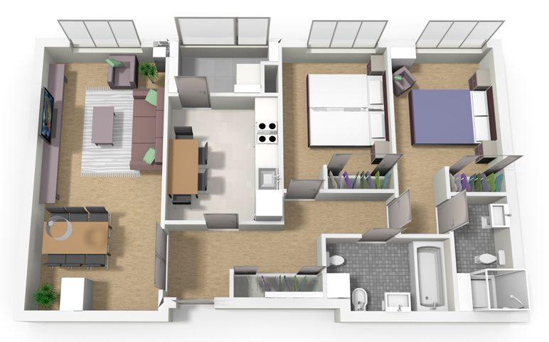 Tipo D 2 dormitorios Cadenas del Naranco V