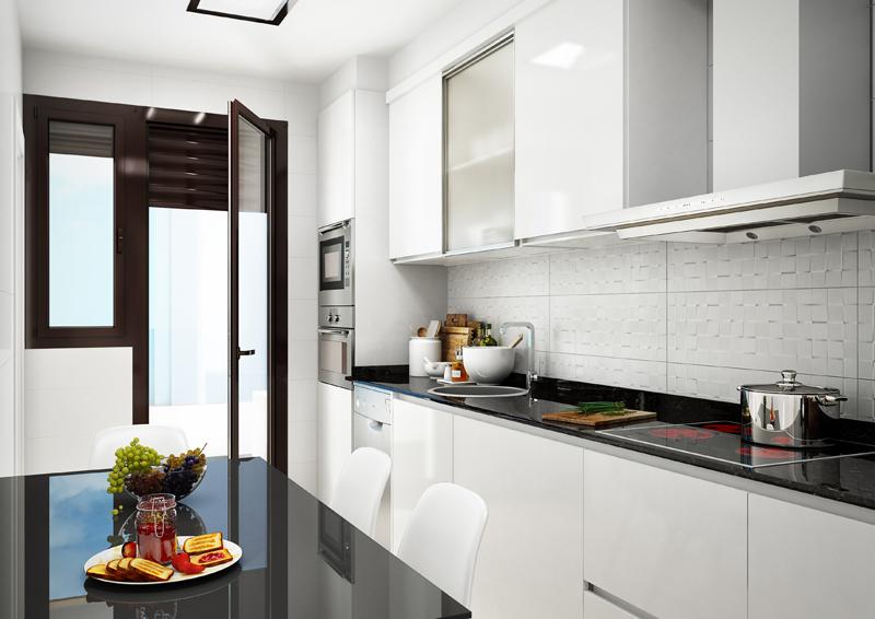 infografía Cocina Víncula Residencial