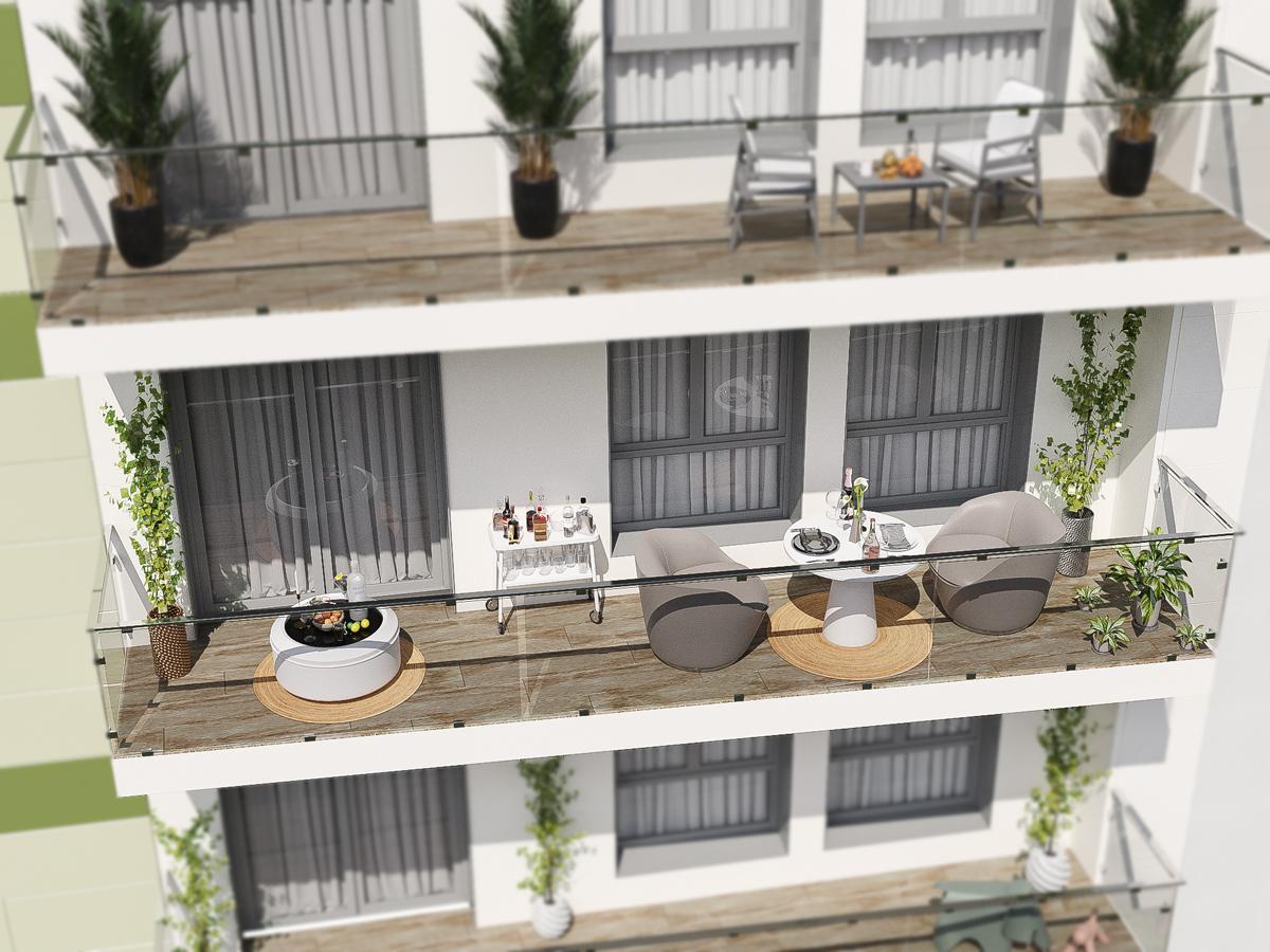 pisos con terraza en la corredoria